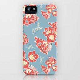Floral Blue iPhone Case