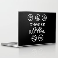 divergent Laptop & iPad Skins featuring Divergent - Choose Your Faction (White) by Lunil