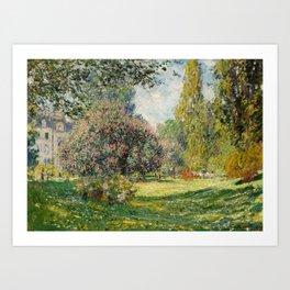 The Parc Monceau by Claude Monet Art Print