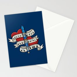Laugh Hard, Run Fast, Be Kind Stationery Cards