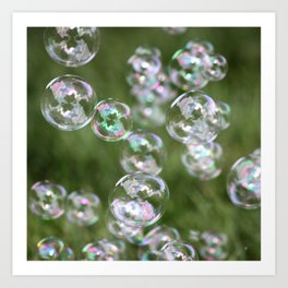 Floating Bubbles Outdoors Art Print