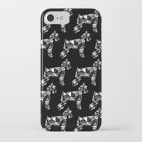 schnauzer iPhone & iPod Cases featuring poli schnauzer by monicamarcov
