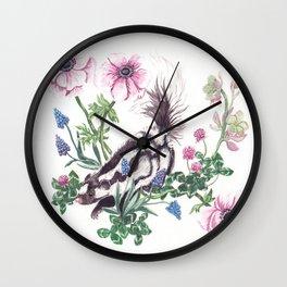 Garden Skunk Wall Clock