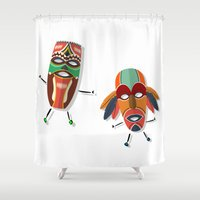 africa Shower Curtains featuring AFRICA by Rceeh