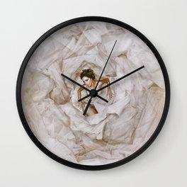 Deep in White Wall Clock
