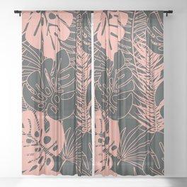 Tropical pattern 034 Sheer Curtain