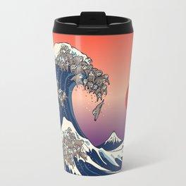 The Great Wave of Sloth Travel Mug