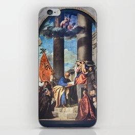 Titian - Altar of Madona di Ca'Pesaro iPhone Skin