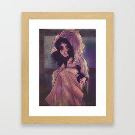 Tsukimi Kurashita in the Dark Framed Art Print