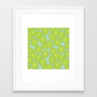 lime green Framed Art Prints featuring lime by Tanya Pligina