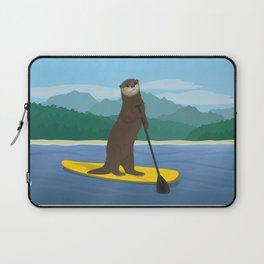 Otter stand up puddling Laptop Sleeve