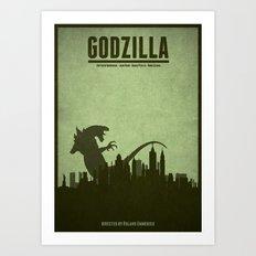 Godzilla - minimal poster Art Print