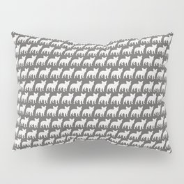 French Bulldog Silhouette(s) Pillow Sham