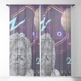 Ancient Gods and Planets: Jupiter Sheer Curtain