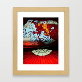 Dragon Stained Glass Framed Art Print