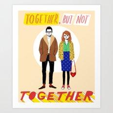 Together but not together Art Print