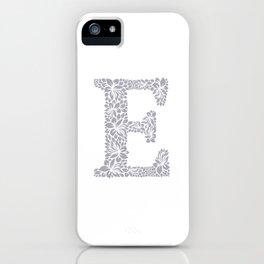 Floral Letter E iPhone Case
