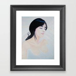 Re-Created Girl in Bath by Robert S. Lee Framed Art Print