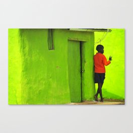 Green House Canvas Print