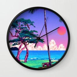 Beach Pixel Art Wall Clock