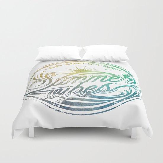 Summer vibes - typo artwork Duvet Cover