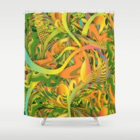 yetiland Shower Curtains featuring Pineapple by Danny Ivan