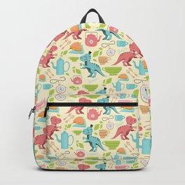 Tea Rex seamless pattern Backpack