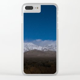 Starry Sierras Clear iPhone Case