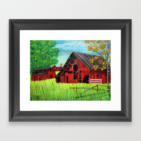 Old Farm 2 Framed Art Print