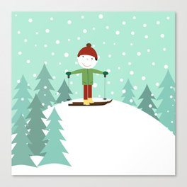 Small skier Canvas Print