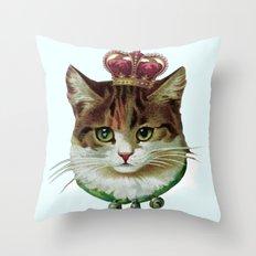 Queen Kitty Throw Pillow