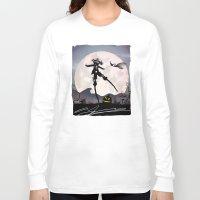 jack skellington Long Sleeve T-shirts featuring Jack Skellington Kid by Andy Fairhurst Art