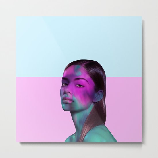 Psychedelic Babe Metal Print