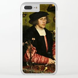 Hans Holbein  - Portrait of Georg Giese Clear iPhone Case