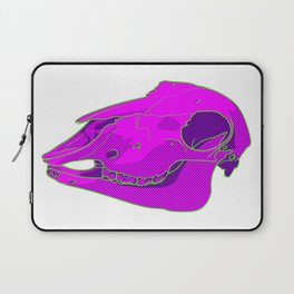 Neon Sheep Skull Laptop Sleeve