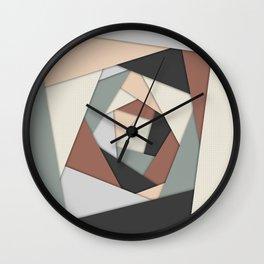 Earth Tones Layers Wall Clock
