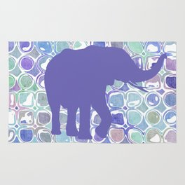 Abstract Purple Elephant Rug