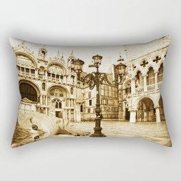 Giant Kitten in Venice (2) Rectangular Pillow