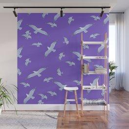 purple seagull day flight Wall Mural