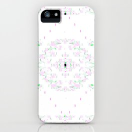 Grey Type with Colorful Filigree iPhone Case