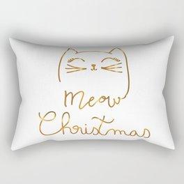 Meow Christmas- Merry Chrismtmas Rectangular Pillow