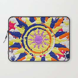 Colorful Quilted sun pattern Abstract Laptop Sleeve