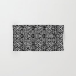 Simple Ogee Black & White Hand & Bath Towel