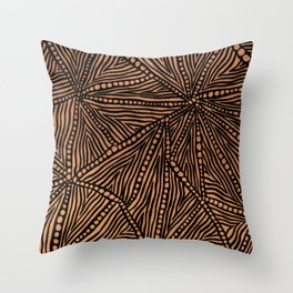 Rustic Triangles Throw Pillow