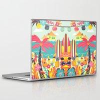 tiki Laptop & iPad Skins featuring Tiki by Claire Lordon