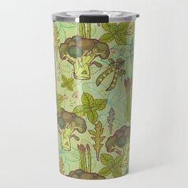 Green vegetables pattern. Travel Mug