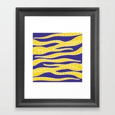 Yellow Tentacles Framed Art Print