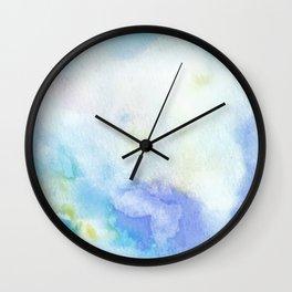 Light Blue Watercolor Texture Wall Clock