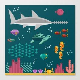 Sea animals Canvas Print