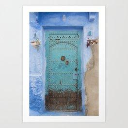 Doorways - Morocco - Chefchaouen The Blue City 8 Art Print